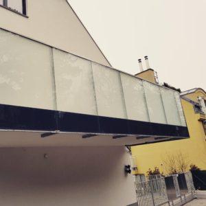 Milchglasfolie Balkon